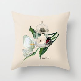 the cage door is always open Throw Pillow