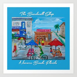 The Boardwalk Shop Art Print