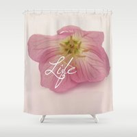 flower of life Shower Curtains featuring Life by Kelsi Lee Photography