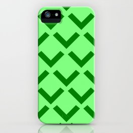 Geometry No. 3 -- Lime iPhone Case