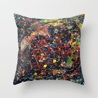 spawn Throw Pillows featuring Minion Spawn by Christina Stavers