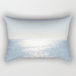 Electric Blue Ocean Rectangular Pillow