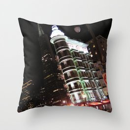Sentinel Building at Night Throw Pillow