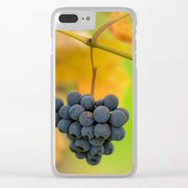 Grapes - vertical Clear iPhone Case