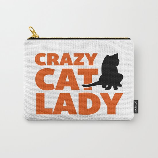 Crazy Cat Lady Funny Quote Carry-All Pouch