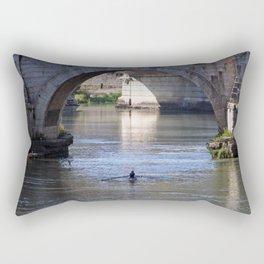 The River Under the Bridges Rectangular Pillow