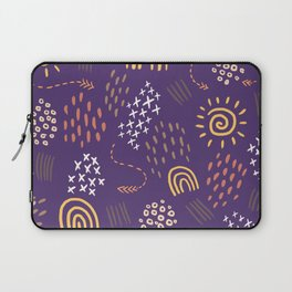 Abstract Fireworks Pattern Laptop Sleeve