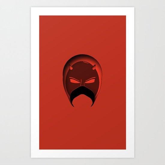 The Cowl: Daredevil Art Print