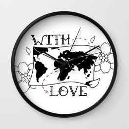 With Love Envelope Wall Clock