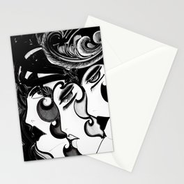 ART DECO MOD DOLLY FLAPPERS  TRIO Stationery Cards
