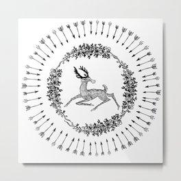 BAD PATCH - DEER Metal Print