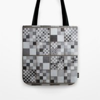 chess Tote Bags featuring Chess  by Geometric Arte Studio
