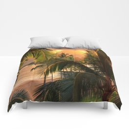 Kauai Tropical Island by OLena Art Comforters