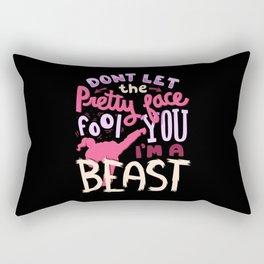 I'm a Beast - Karate Rectangular Pillow
