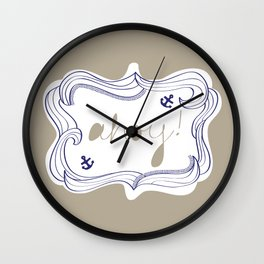 Ahoy! Wall Clock