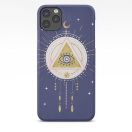 Magical night tarot illustration no5 iPhone Case