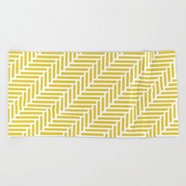 Herringbone 45 Yellow Beach Towel