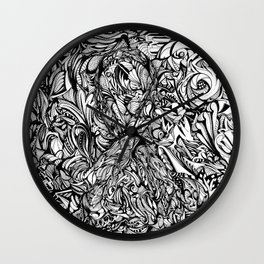 Conquer (Black & White Version)  Wall Clock