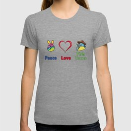 Peace Love & Fish Tacos - Funny Gift - Multi Color Design T-shirt