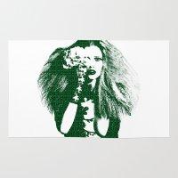 lara croft Area & Throw Rugs featuring Fashion Lara Stone Calvin Klein by fashionistheonlycure