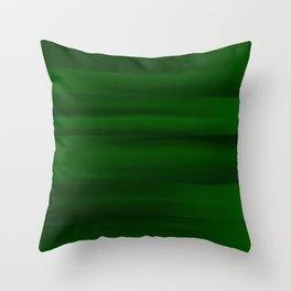 Emerald Green and Black Abstract Throw Pillow