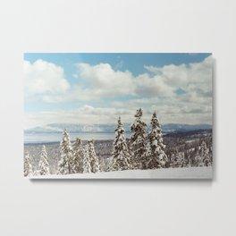 Tahoe Winter Metal Print