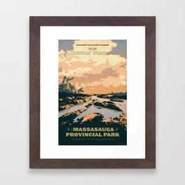 The Massasauga Park Poster Framed Art Print