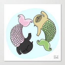 Merpug aka pisces pug! Canvas Print