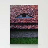 medieval Stationery Cards featuring Medieval Roof by Rainer Steinke