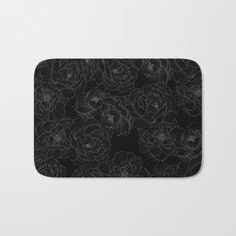 Peony Flower Pattern III Bath Mat