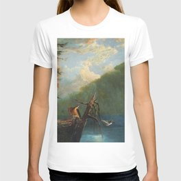 Old Man in the Mountain, White Mountains, New Hampshire landscape painting by Thomas Hill T-shirt
