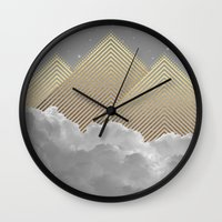 kerouac Wall Clocks featuring Silence is the Golden Mountain (Stay Gold) by soaring anchor designs