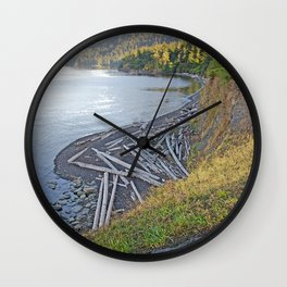 PACIFIC NORTHWEST LATE SUMMER EVENING Wall Clock