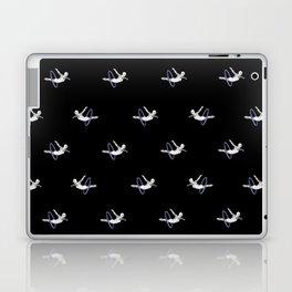 Hoop Diving - Pattern on Black Laptop & iPad Skin