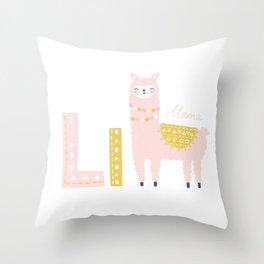Cute Alphabet Throw Pillow