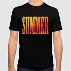 Summer Heat  Black Mens Fitted Tee MEDIUM