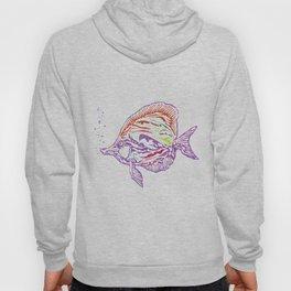 Purple Tropical Fish Hoody