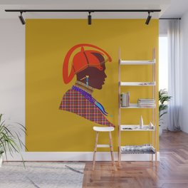 kenyan massai warrior artwork atalanta creatives design Wall Mural