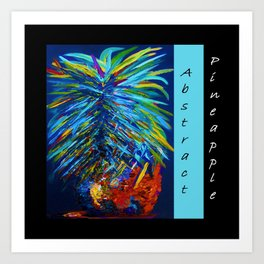Abstract Pineapple Art Print