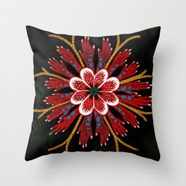 Coral fingers Throw Pillow