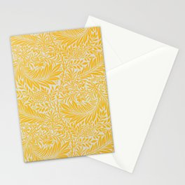 Yellow Bright Floral Pattern Stationery Cards