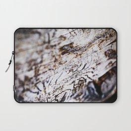White Birch Wood Bark Natural TexturePattern Laptop Sleeve