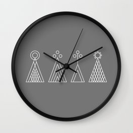 Latvian God signs Wall Clock