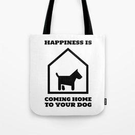 Dog At Home Tote Bag