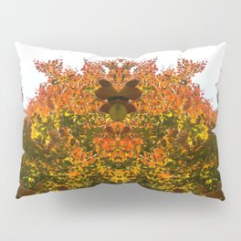 Sunny Autumn Leaves Fall Vibes Pillow Sham