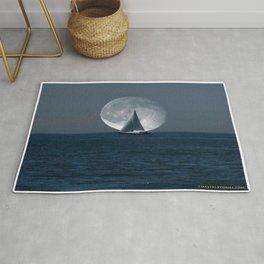Full Moon Sailing Rug