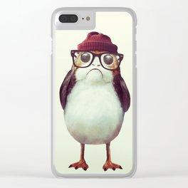 Mr. Porg Clear iPhone Case