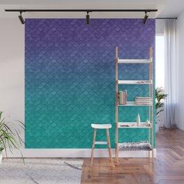 Ariel Mermaid Inspired Purple & Green Wall Mural