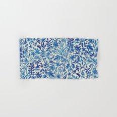 Floating Garden - a watercolor pattern in blue Hand & Bath Towel