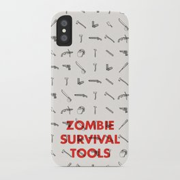 Zombie Survival Tools - Pattern 'o tools iPhone Case